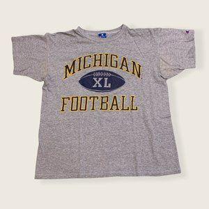 Champion USA Vintage Michigan Football Tee Shirt